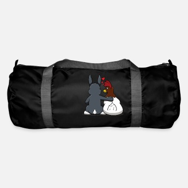 Rabbit Th Funny Easter Bunny Rabbit Love Colored Eggs - Duffle Bag