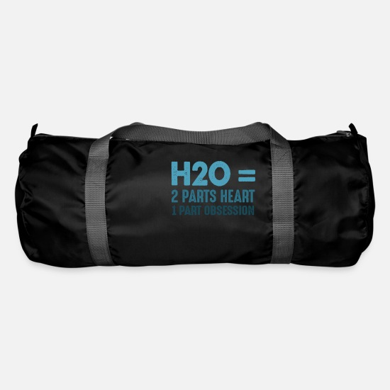 Sports Bags & Backpacks - H2O = 2 Parts Heart 1 Part Obsession - Duffle Bag black