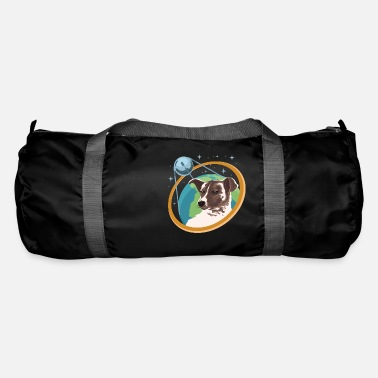Space dog Laika space travel Russian astronaut - Duffle Bag
