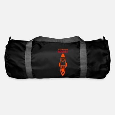 Conflict Rocket To The Moon Spaceship Red Orange - Duffle Bag
