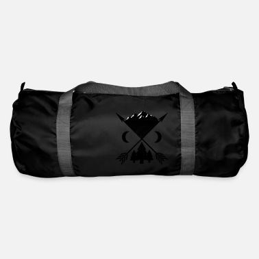 Fire Arrows trees and mountains - Duffle Bag