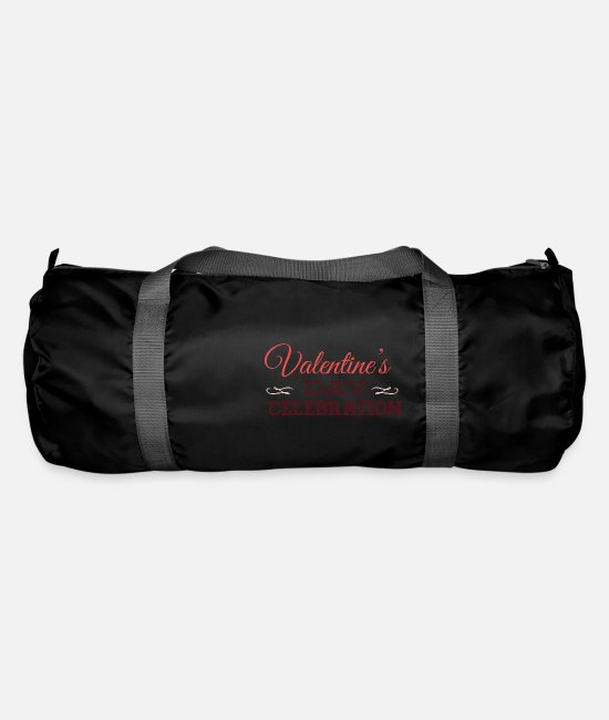 Cute Bags & Backpacks - Valentines Day Celebration Valentine - Duffle Bag black
