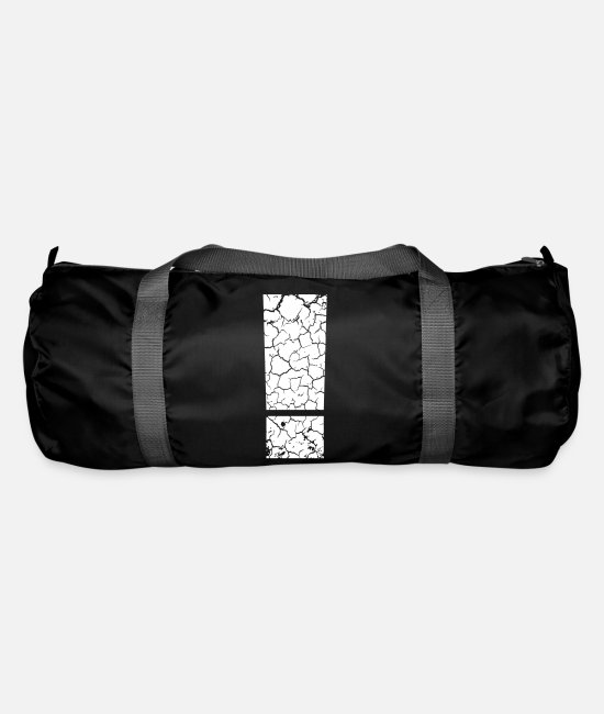 Broken Bags & Backpacks - ! Attention attention exclamation mark - Duffle Bag black