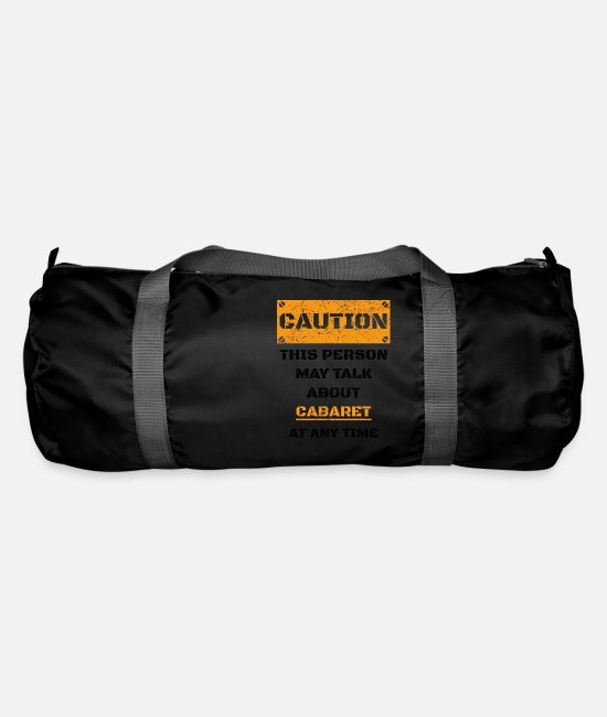 Birthday Bags & Backpacks - CAUTION GIFT HOBBY SPEAK LOVE Cabaret - Duffle Bag black