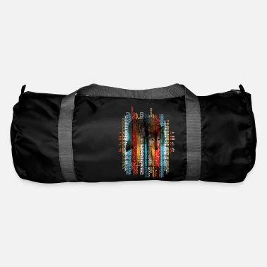 Tribal Pattern Wolf on tribal ethnic pattern texture - Duffle Bag