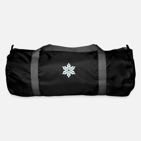 Christmas Bags & Backpacks - snowflake - Duffle Bag black