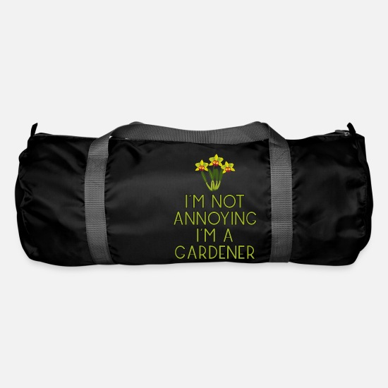 Garden Bags & Backpacks - garden gardener garden flowers plants13 - Duffle Bag black