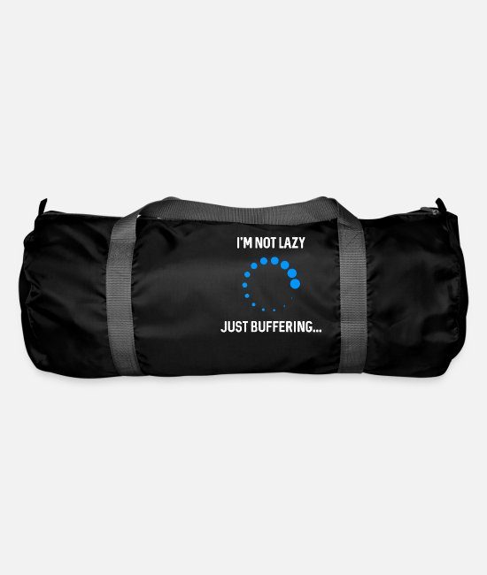 Tech Bags & Backpacks - Just buffering. - Duffle Bag black