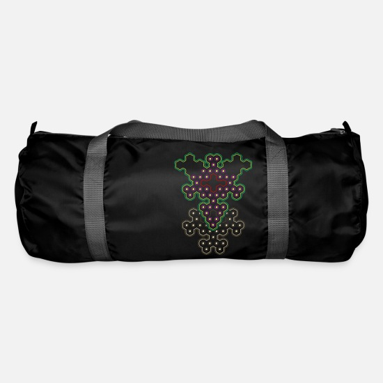 Fungal Bags & Backpacks - Psytrance classic - Duffle Bag black