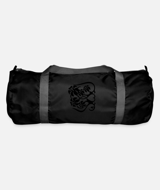 Heart Bags & Backpacks - Flower Fence - Duffle Bag black