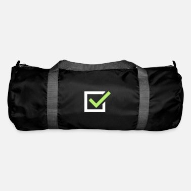 Tick tick tick mark - Duffle Bag