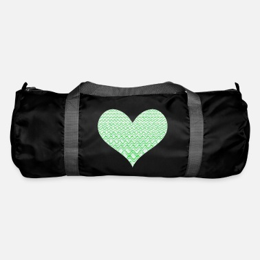 Elegance Green frequencies heart - Duffle Bag