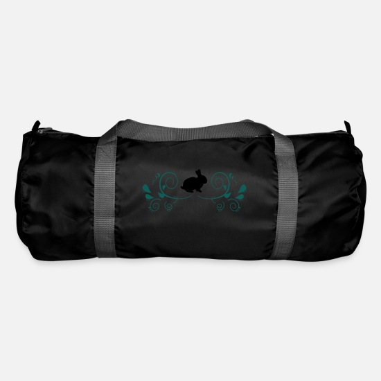Bunny Bags & Backpacks - Bunny with decorating - Duffle Bag black