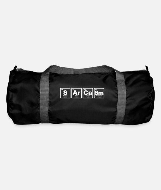 Periodic Table Bags & Backpacks - SARCASM PERIODIC TABLE - Duffle Bag black