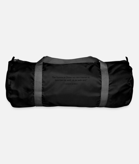 Quote Bags & Backpacks - quotes - Duffle Bag black