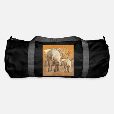 Steppe Elephant popos in the steppe - Duffle Bag