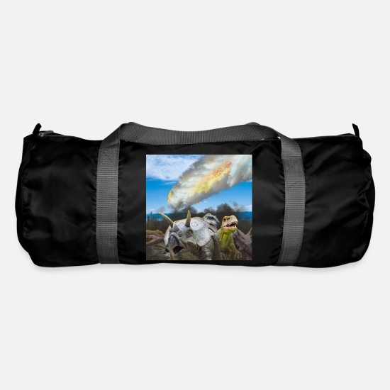 Death Bags & Backpacks - Dinosaur extinction - Astroid/comet impact - Duffle Bag black