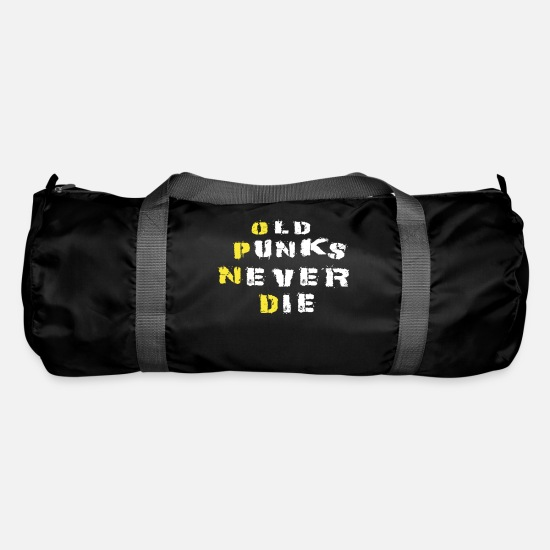 Birthday Bags & Backpacks - Old Punks Never Die, Punk Rock Music Shirt Music - Duffle Bag black
