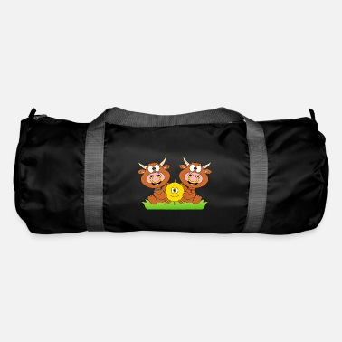 Mood Cows - cattle - let the sun into your heart - Duffle Bag