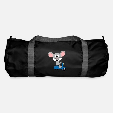 Chic Funny mouse - scooter - driving license - animal - Duffle Bag