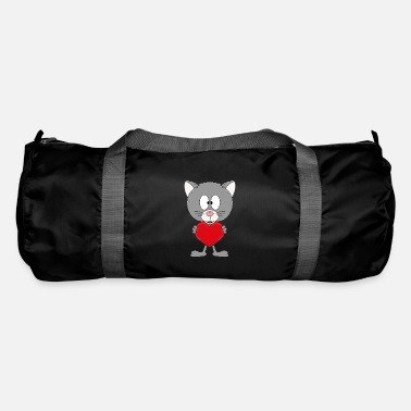 Mood Funny cat - heart - love - love - animal - fun - Duffle Bag