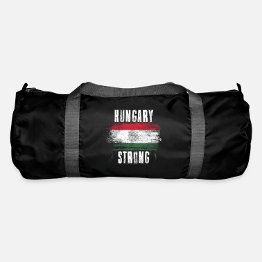 Splatter Hungary Strong Distressed Graffiti Flag - Duffle Bag