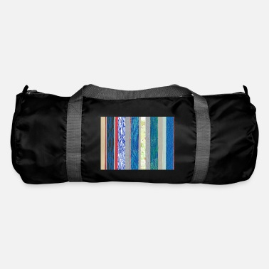 Lino Cut Stripes blue red - Duffle Bag
