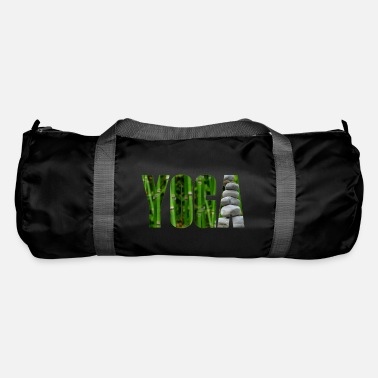 Yoga bamboo with stones - Duffle Bag
