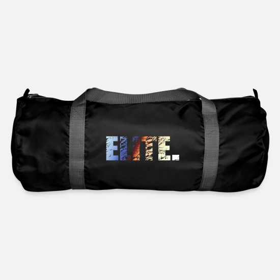 Lettering Bags & Backpacks - Elite. - Duffle Bag black