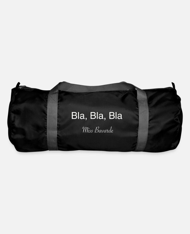 BLA Bla Bags & Backpacks - Bla, bla, bla miss talkative - Duffle Bag black