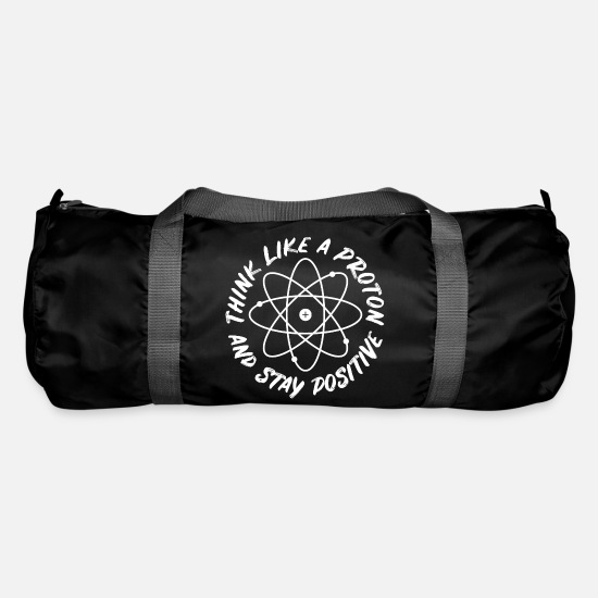 Student Bags & Backpacks - Positive thinking proton chemistry - Duffle Bag black