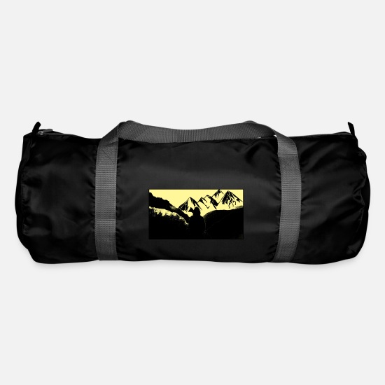 Forest Bags & Backpacks - Mountains, wilderness and the people - Duffle Bag black