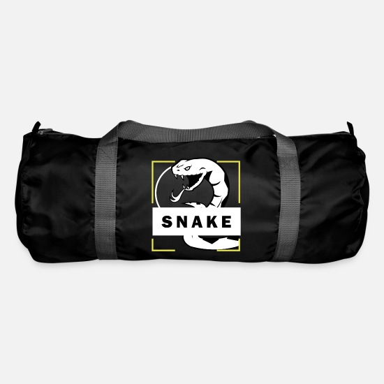 Snake Bags & Backpacks - Python snake Snake Cobra snake - Duffle Bag black