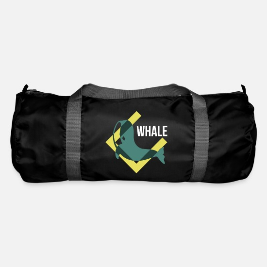 Gift Idea Bags & Backpacks - Seiwal whales Orka river dolphin mammal gift - Duffle Bag black