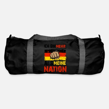 Anti Patriotism quote shirt for Germany - Duffle Bag