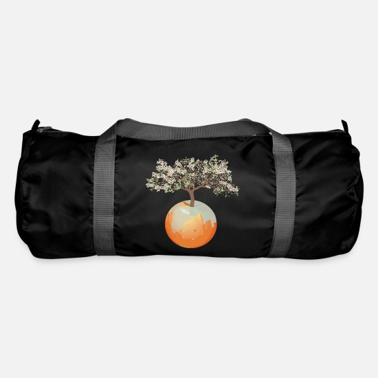 Tree Bags & Backpacks - Earth - apple tree - Duffle Bag black