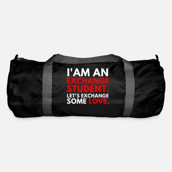 Travel Bags & Backpacks - Student exchange student love - Duffle Bag black