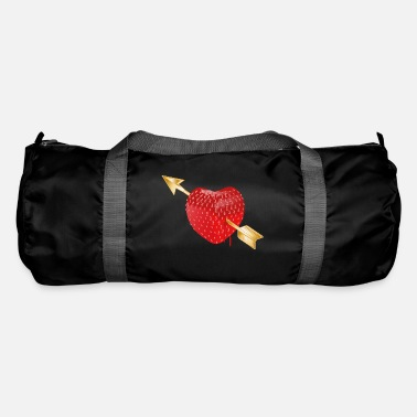 Cupido juicy red strawberry with golden arrow Cupid - Duffle Bag