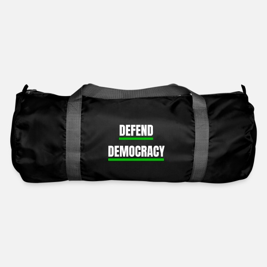 Basic Law Bags & Backpacks - Defend democracy green - defend the democracy - Duffle Bag black