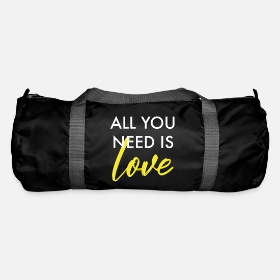 Love Bags & Backpacks - All you need is love - Duffle Bag black