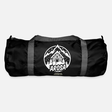 Ski Area Apres Ski T Shirt Design Arosa Ski Area Switzerland - Duffle Bag