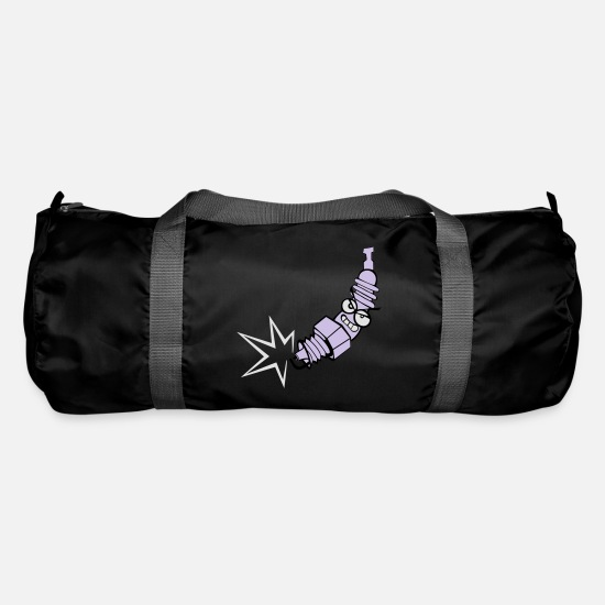 Lightning Bags & Backpacks - Spark plug with color changing function - Duffle Bag black