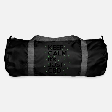 KEEP CALM it's JUST CDB T-Shirt CBD Cannabis - Duffle Bag