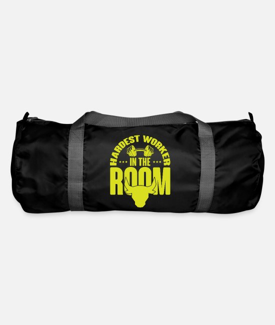 Rock Bags & Backpacks - HARDEST WORKER IN THE ROOM Muscle Shirt Power Lift - Duffle Bag black