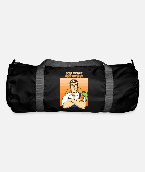 Garden Bags & Backpacks - Farmer harvesting gift - Duffle Bag black