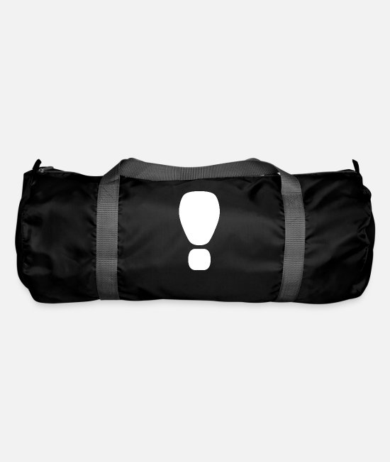 Here Bags & Backpacks - Exclamation mark respect Hello - Duffle Bag black