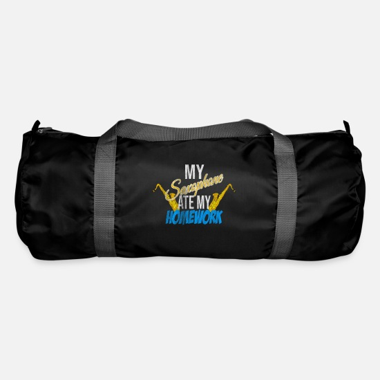 Gift Idea Bags & Backpacks - Saxophone homework - Duffle Bag black