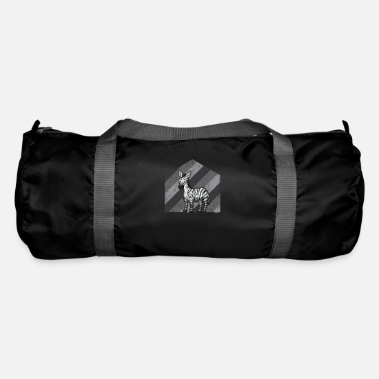 Grungy Bags & Backpacks - Zebra animal animal rights activist - Duffle Bag black