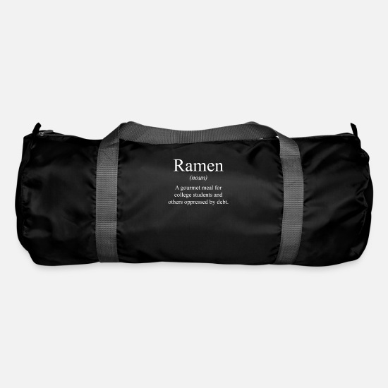 Soup Bags & Backpacks - Funny ramen definition instant noodle gift - Duffle Bag black