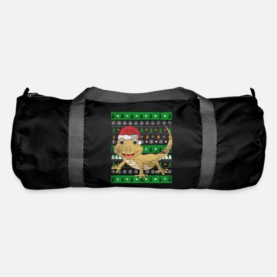 Reptile Bags & Backpacks - Ugly Christmas gecko - Duffle Bag black